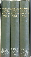 World's War Events by Francis Reynolds 1919 Complete in 3 Vol. Rare Book $