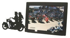 Motorcycle Couple 5x7H Black Metal Picture Frame