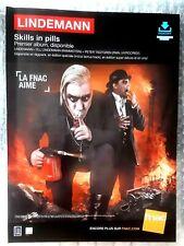 Publicité advert concert album advertising LINDEMANN 2015 Lp skills in pills