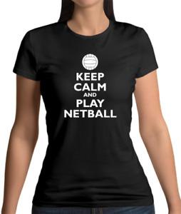 Keep Calm And Play Netball Womens T-Shirt - Sport - Player - Team Olympics -Gift