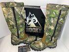 "Rocky RKS0228BP 16"" Zip Side Camo Camouflage True Timber Snake Boots Sz 10.5M"
