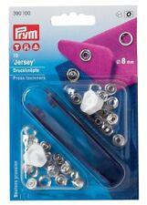 Bottoni a Pressione PRYM anello 8mm Argento Chiusura leggera bambini 390100
