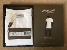 Zimmerli Men's Luxury 186 Pique Como T-Shirt White Size S BNWT