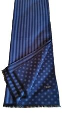 NUOVA SCIARPA BLU A POIS E A RIGHE ANDREW'S TIES MADE IN ITALY