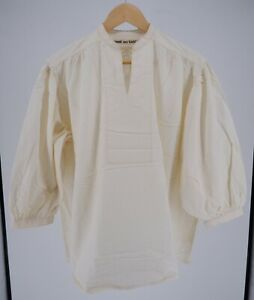 Comme des garcons Japan 1920's vintage 20s style white large collarless shirt