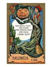 Vintage Halloween Graphic Poster #47 - 3 Sizes Available