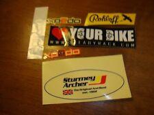 Lot 6 tiny Bike stickers Rohloff Xpedo Thompson Stem Sturmey Archer