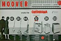 PUBLICITÉ DE PRESSE 1963 HOOVER ASPIRATEUR - ASPIRO-BATTEUR - MACHINE A LAVER