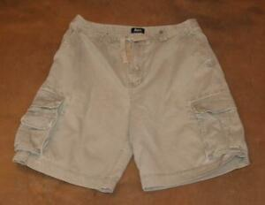 "BASS Cargo Shorts Gray Waist: 32"" Drawstring Mens Grey"