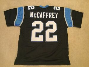 UNSIGNED CUSTOM Sewn Stitched Christian McCaffrey Black Jersey - M, L, XL, 2XL