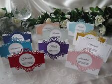 Handcrafted Printed Place Name Cards Wedding/Anniversary/Birthday - Regal Range
