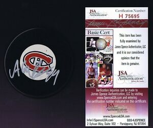 ALEX GALCHENYUK Signed MONTREAL CANADIENS Hockey Puck - JSA #H75695