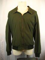 Vintage 90s Eddie Bauer Green Cotton Lined Full Zip Windbreaker Jacket sz XL