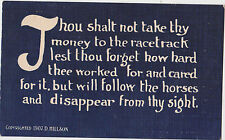 Thou Shalt Not Take Thy Money to the Racetrack Lest Thou Forget how ...  # 22