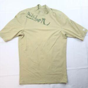Quiksilver Men's Size 2XL Rash Guard Short Sleeve Light Green