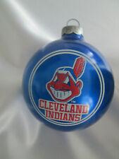 "Cleveland Indians MLB baseball christmas ornament  wahoo 8 1/2 "" around"