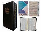 BIBLIA REINA VALERA 1960, LETRA GRANDE, CIERRE PIEL NEGRO E INDICE  For Sale