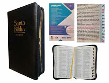 BIBLIA REINA VALERA 1960, LETRA GRANDE, CIERRE PIEL NEGRO e INDICE