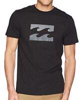 NEW + TAG BILLABONG MENS SIZE XXL WAVE LOGO SURF T-SHIRT TEE CORE FIT BLACK