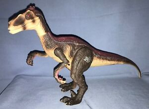 2000 Hasbro Jurassic Park III Electronic Stalking Raptor Figure Working