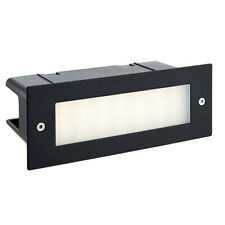 SAXBY SEINA Black LED Recessed Outdoor Brick Light Cool White Wall Stainless
