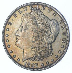 W@W Early 1887 Morgan Silver Dollar - 90% US Coin - Nice Coin *557