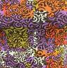 LuLaRoe Nicole Dress 3 Qtr Sleeve Orange Purple Gold Ivory XXS Size 0