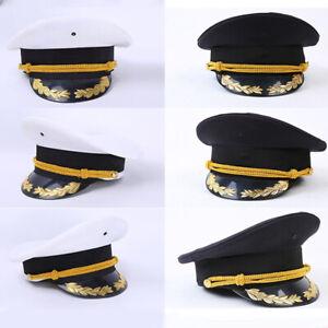 Homme Armée Chapeau Capitaine Performance Casquette Soldat Déguisement Cosplay D