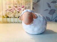 Small Pottery Glazed Sheep Ornament ~ Easter ~ Xmas Nativity Farm Animal 2576