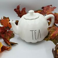 Rae Dunn Pumpkin Shaped Teapot Artisan Collection Magenta Fall Thanksgiving TEA