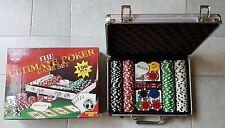 The Ultimate Poker Game Set 196 pcs CASINO SIZE POKER CHIP SET