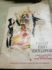 Vintage The Calvert Party Encyclopedia Drinks Menus for Entertaining Pprbk 1965