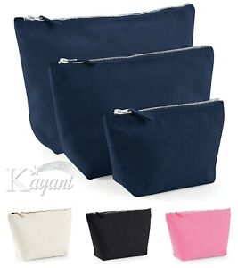 Make Up Bag CANVAS POUCH Wash Bag Birthday Present Gift Accessory Zip Up bag