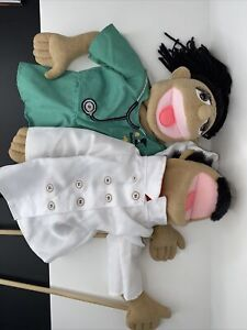2 Melissa And Doug Hand Puppets Chef Doctor