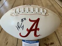 Henry Ruggs III Autographed/Signed Football Beckett COA  Alabama Crimson Tide