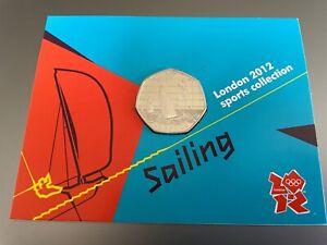 SAILING ROYAL MINT DISPLAY CARD 2012 OLYMPICS WITH 50p COIN MINT RARE