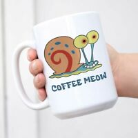 Gary the Snail Mug Funny Coffee Mug White Novelty Mug
