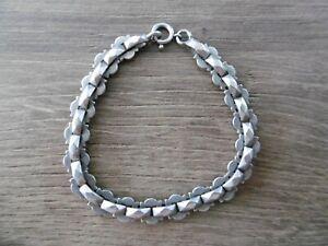 ancien bracelet  gourmette  en argent massif