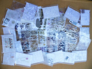 Card making gel clear stamps, job lot clear out, papermania, little claire, etc