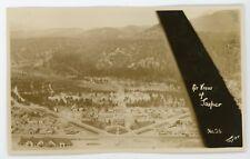 View of Jasper Alberta From airplane  vintage RPPC Real Photo Postcard