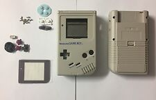 GREY Nintendo Game Boy Classic DMG-01 ORIGINALE alloggi / Zero / * Schermo in Vetro *