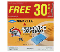 FUMAKILLA MOSQUITO REPELLENT VAPE MAT REFILL THERMACELL 90 PCS UP TO 16 HOURS