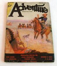 Adventure Pulp. Feb 1st, 1933, Pendexter, Holt, Stribling, VG 4.0