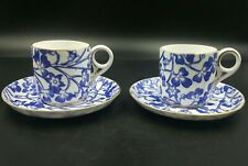 More details for antique royal crown derby demi coffee cups and saucers