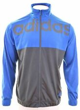 ADIDAS Mens Tracksuit Top Jacket Size 46 2XL Blue Polyester  EC15