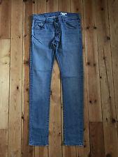 H&M MENS BLUE 'LOW WAIST/ EXTREMLY SLIM LEG' DENIM JEANS W36 L36