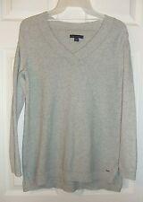 Tommy Hilfiger Womens Sz S Gray V-Neck Sweater