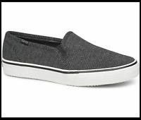 Keds Women's Charcoal Double Decker Stripe Jersey Shoe