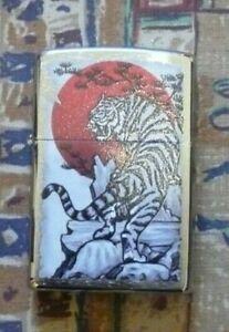 ANIMALS ASIAN TIGER ZIPPO LIGHTER FREE P&P FREE FLINTS