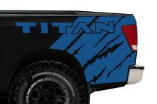 Custom Vinyl Graphics Decal Wrap Kit for Nissan Titan 2004-13 Rear Quarter BLUE